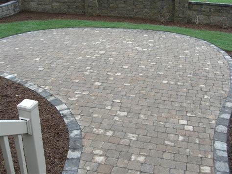grey brick patio grey border pavers patio