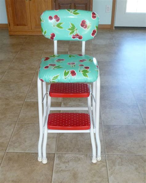 Retro Kitchen Stool by Sts And Stitches Retro Kitchen Stool Makeover Pating