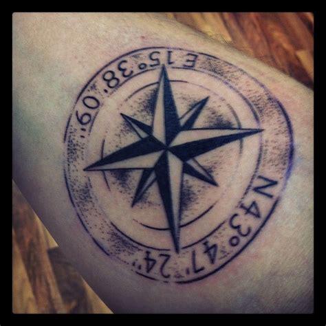 compass tattoo coordinates tattoo compass i love that it looks like a st tattoos