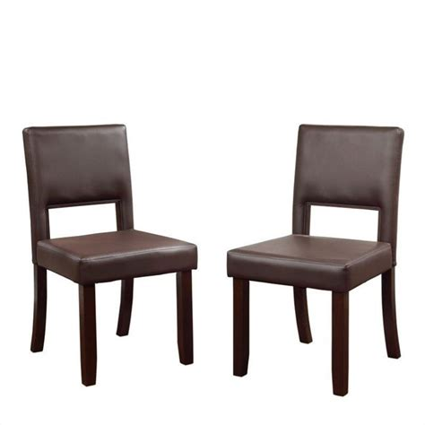 Espresso Chairs by Dining Chairs In Espresso Set Of 2 14052esp02u