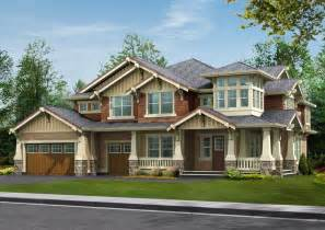 Craftsman Style Homes Plans by Rustic Wood Craftsman Style Home Design Craftsman