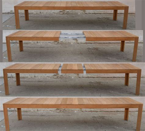 Expandable Patio Table Expandable Outdoor Dining Table Outdoor Dining Table In Teak Expandable At 1stdibs Outdoor