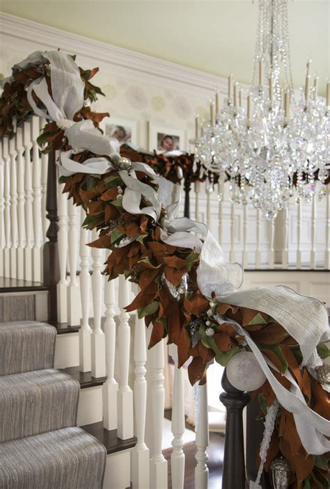 christmas decorating staircase entry archives splendid