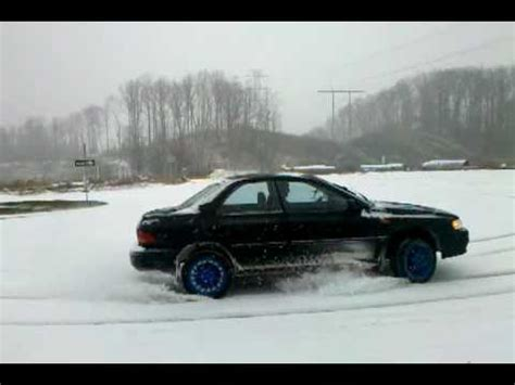 raised subaru impreza lifted subaru impreza playing in the snow youtube