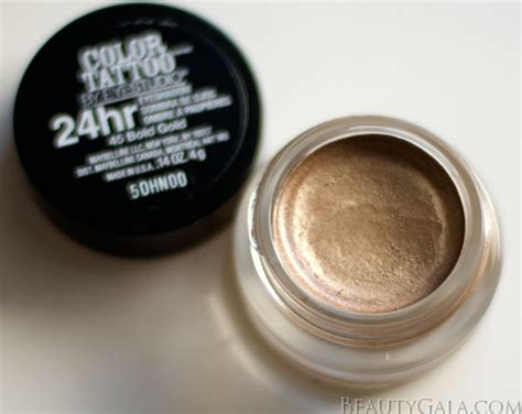 maybelline 24 hour color tattoo maybelline color 24 hour eyeshadow bold gold