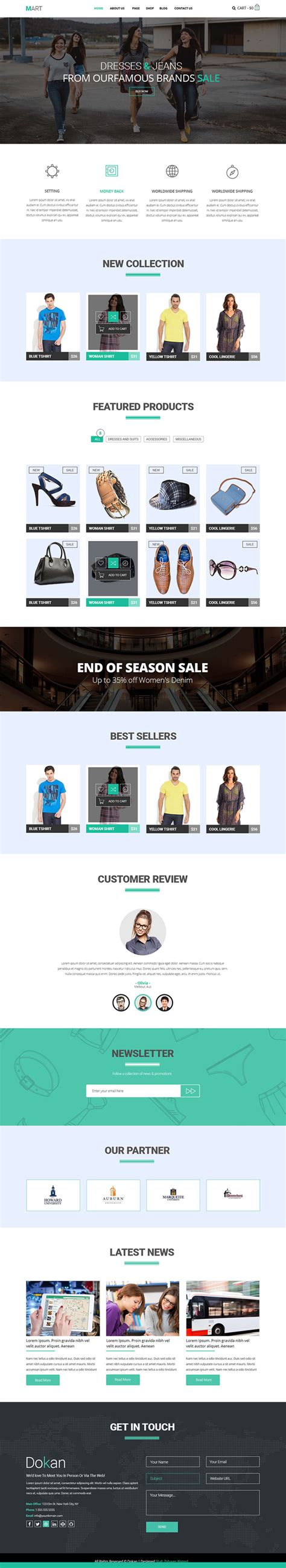 15 Free Responsive Psd Website Templates Idevie Free Responsive Ecommerce Website Templates