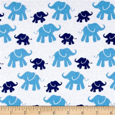 pattern fabric elephant flannel cute elephant navy discount designer fabric