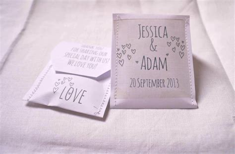 doodle name mae doodle wedding tea bag favour a pack of 10 by mae