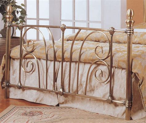 Antique Brass Effect Gold Metal Bed Frame 4ft6 Double Vintage Style Bed Frame