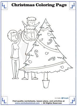 Christmas Tree Coloring Page Tree Math Coloring Page
