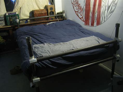 Scaffolding Bed Frame Made From Scaffolding