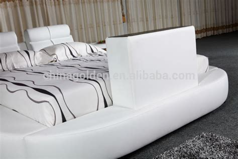 Foshan Golden Furniture Manufacturer King Size Leather Bed With Tv In Footboard G1031   Buy Bed