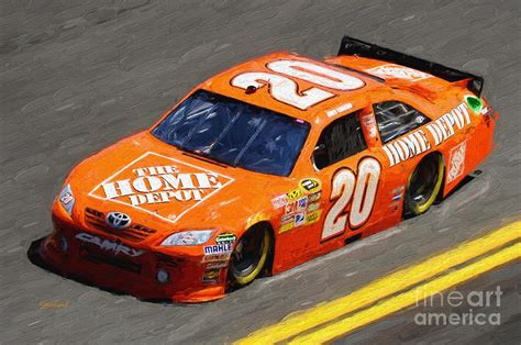 home depot nascar mixed media by garland johnson