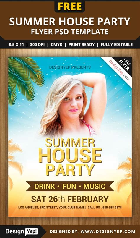 2in1 summer cocktail flyer template flyer templates creative