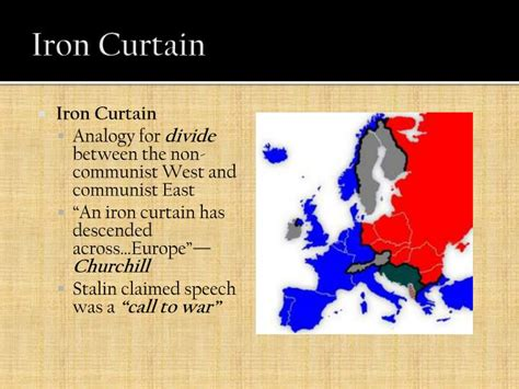 what does the iron curtain represent ppt recent american history powerpoint presentation id