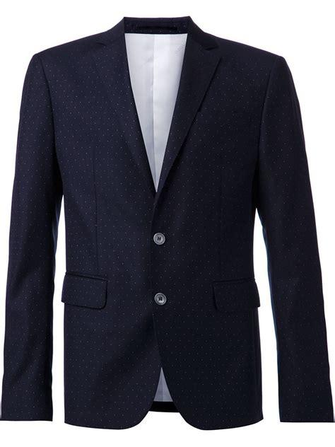 blue pattern men s suit dsquared 178 polka dot pattern two piece suit in blue for men