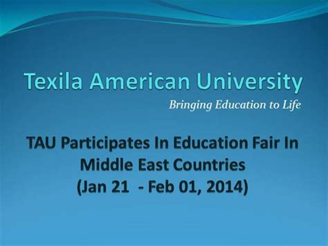 Mba Teaching In Middle East by Middle East Education Fair Texila American