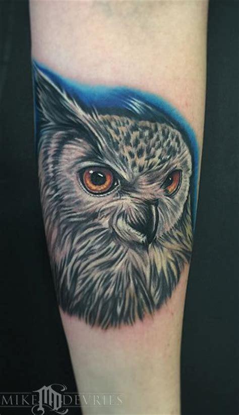 tattoo eagle owl mike devries tattoos animal eurasian eagle owl