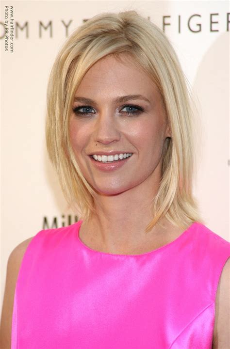 January Jones Hairstyles by January Jones Medium Length Hairstyle With A Flip