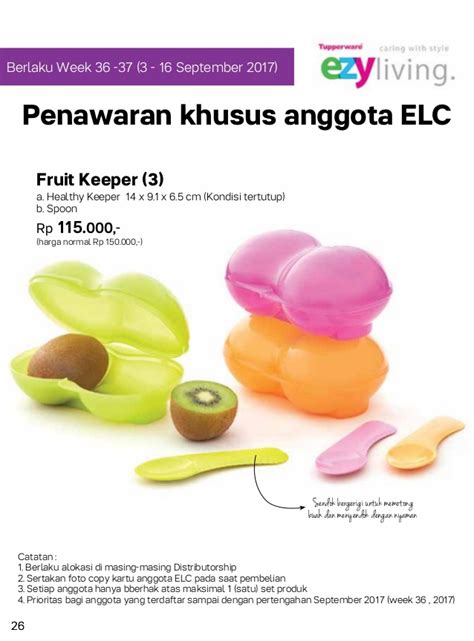 Tupperware Ventsmart 4 4l Purple katalog tupperware 2017 jual tupperware promo harga