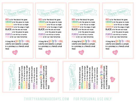 printable jelly bean name tags easter treat printable