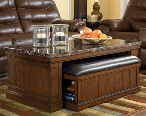 Ashley Furniture Bookcase Marble Top Coffee Table With Ottoman Lowest Priced
