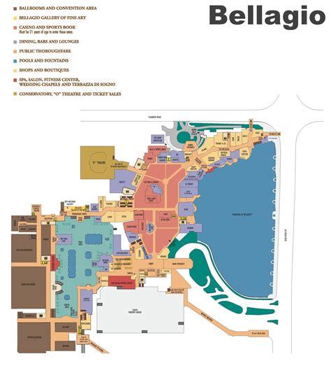hotel layout vegas bellagio map my blog