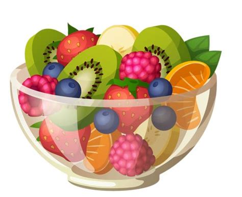 fruit clipart bowl clipart fruit salad pencil and in color bowl