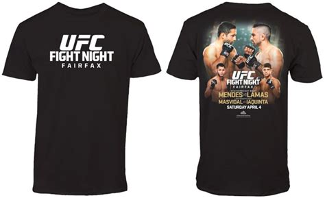 Tshirt Ufc Fight Abu Fightmerch ufc fight 63 mendes vs lamas t shirt