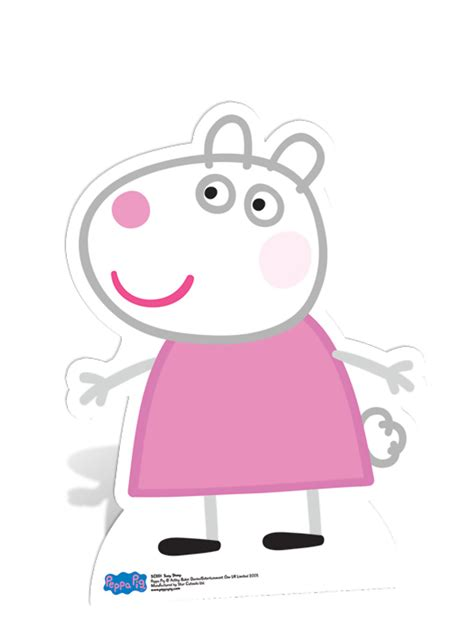 Peppa Pig Wall Stickers suzy sheep cardboard cutout peppa pig party decorations