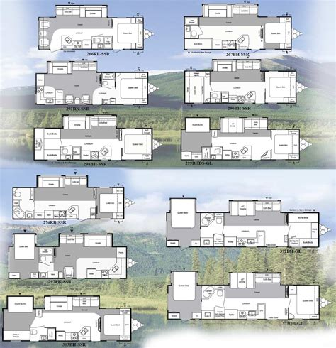 keystone travel trailer floor plans keystone springdale travel trailer floorplans large picture