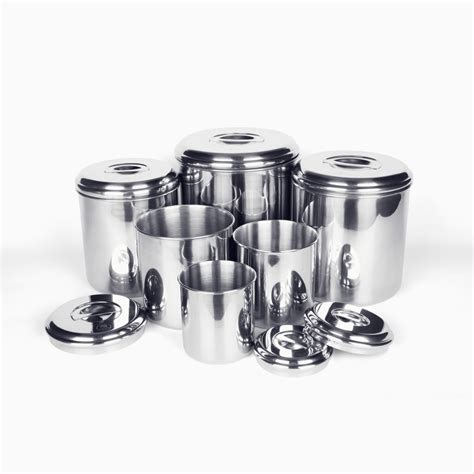 stainless steel canisters kitchen canisters stainless steel oggi airtight stainless steel