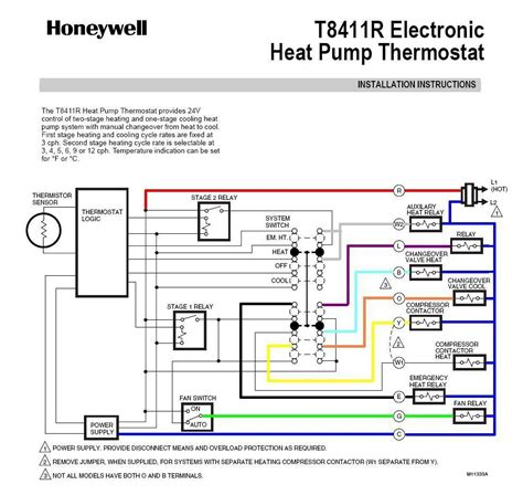 wiring diagram of honeywell t8411 1028 electronic heat
