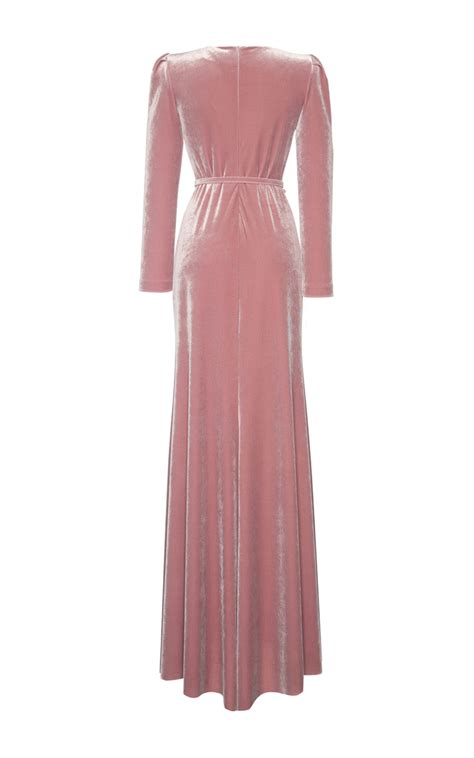 Dress Lusia Maxy luisa beccaria velvet maxi dress in pink lyst