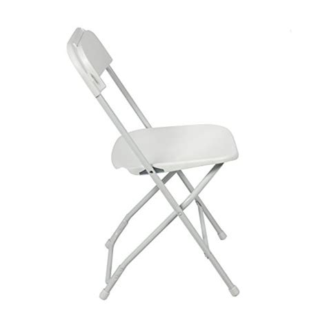 stackable folding chairs best choice products 174 5 commercial white plastic folding