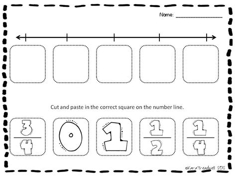 Fraction Number Line Worksheets by Treadwell S Teaching Adventures 3rd Grade Activities