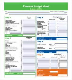 Personal Budgets Templates by Sle Personal Budget Documents In Pdf Word Excel