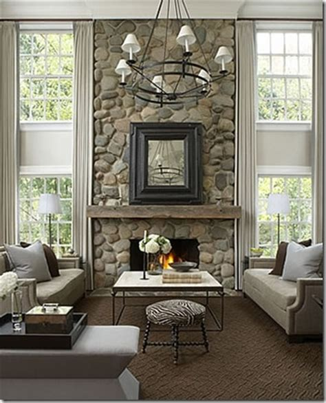 Ceiling Mounted Fireplaces by 17 Best Ideas About River Rock Fireplaces On