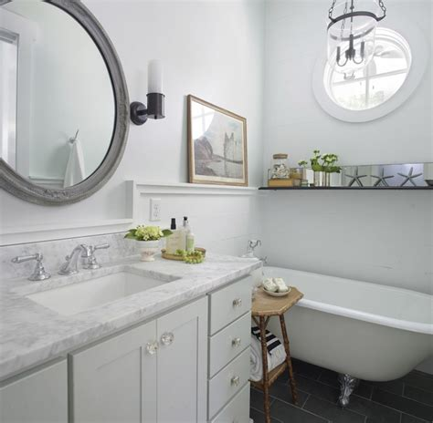 grey bathroom mirror coastal bathroom cottage bathroom rethink design studio