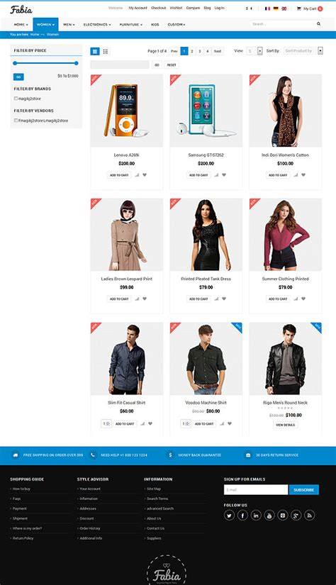 J2store Themes | fabia responsive ecommerce theme for j2store by