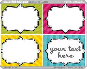 Editable Label Templates by Rectangle Editable Pdf 8x10 Colorful Stripes Labels No