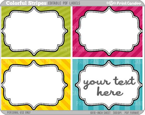 editable label templates 8 best images of editable printable tags free editable
