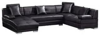 how long do bonded leather sofas last 3334 black bonded leather sectional sofa modern