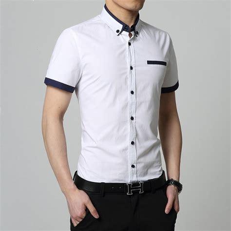 Limited Kemeja Pria Polos Pendek Kerah Sanghai Baju Koko Polos Pende jual kemeja pria mulomen 54 putih kemeja cowok kemeja cowo kemeja putih kemeja korea