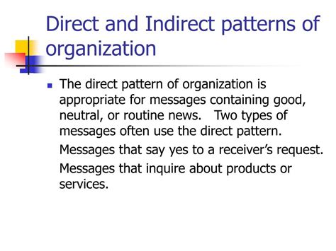 pattern of organization practice ppt communication by objective approach powerpoint