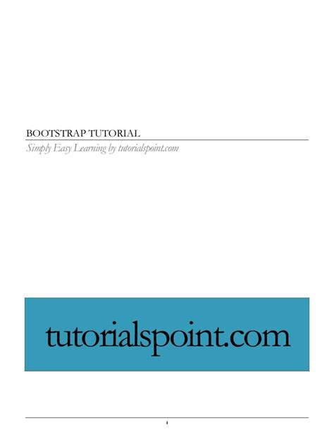 bootstrap tutorial notes bootstrap tutorial