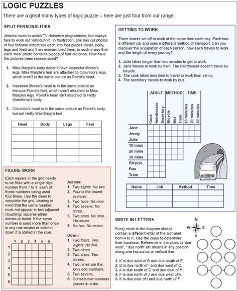 free printable logic puzzles no download coping skills 11 solving mind puzzles rose with thorns