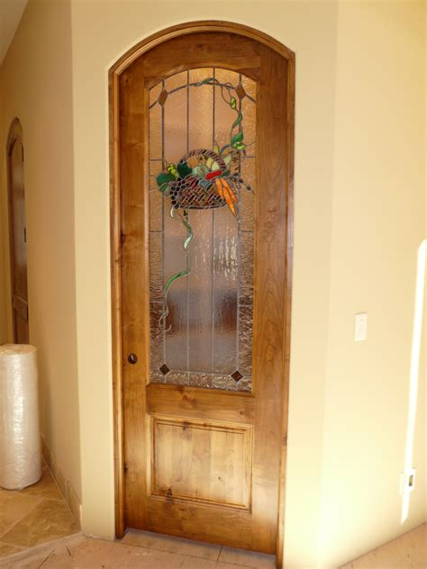 stained glass pantry door traditional studio