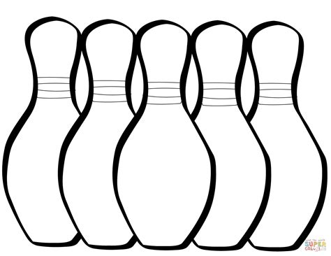coloring pages bowling balls pins five bowling pins coloring page free printable coloring