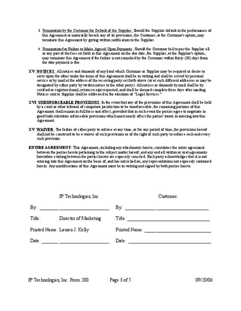 Technical Support Service Agreement Free Download Tech Support Contract Template